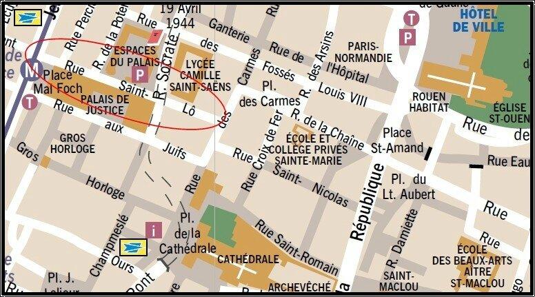 Plan rue St-Lô
