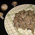 Chou vert braisé aux champignons