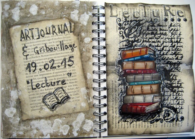 artjournal gribouillage lecture