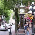 The gastown steam clock, vancouver.