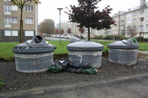 Avranches rue Mermoz ordure poubelles déchets C3A Manche
