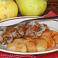 Filet mignon au miel et coings poêolés aux épices