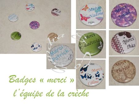 Badges merci