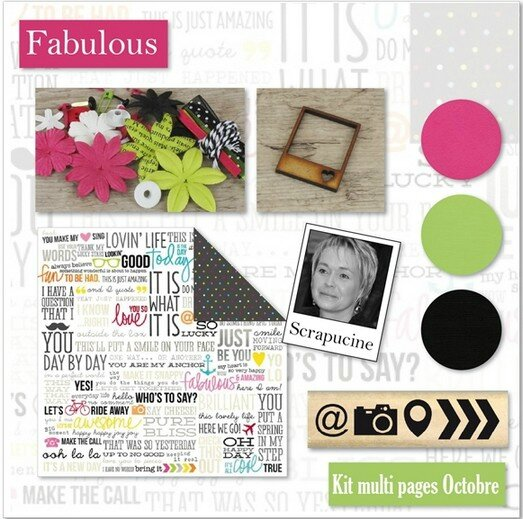 Kit atelier Multi-pages Octobre 2014 par Scrapucine