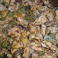 Volaille émincée aux épices et olives
