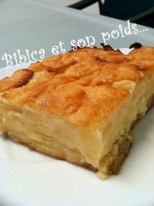 Gâteau invisible aux pommes part gros plan-1