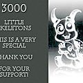 3000 personnes aiment my friend skeleton
