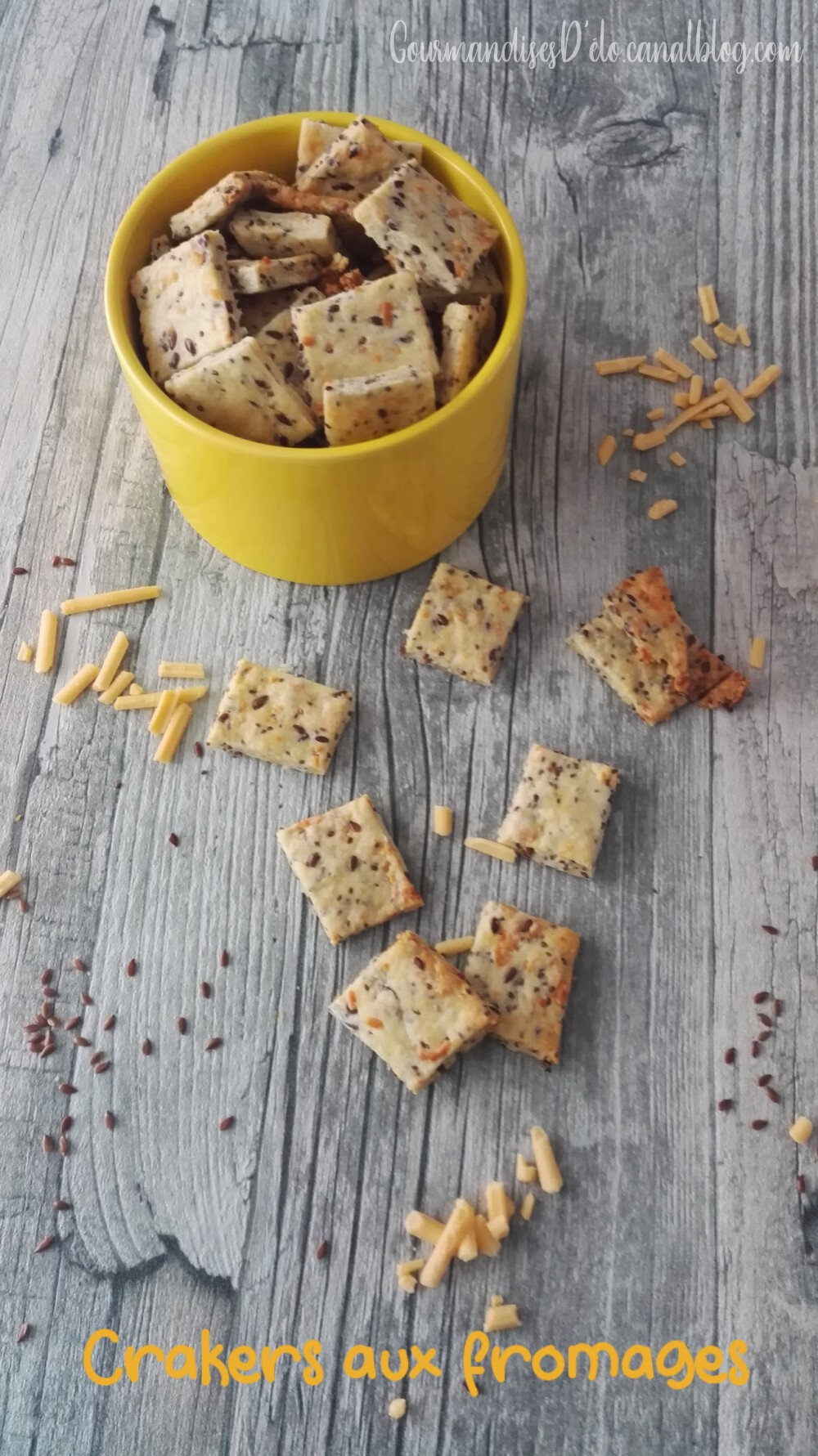 Crackers aux fromages