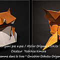 Origami animaux drôles -chien viverrin 2-