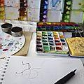 Insectes au dessin et à l'aquarelle