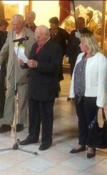 Mr ERISAY et Mme LEPY Maire de Tosny