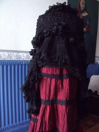 Châle noir 10