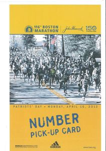 pick up card - bib number recto