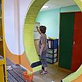 Rénovation des locaux par l'équipe éducative et les parents