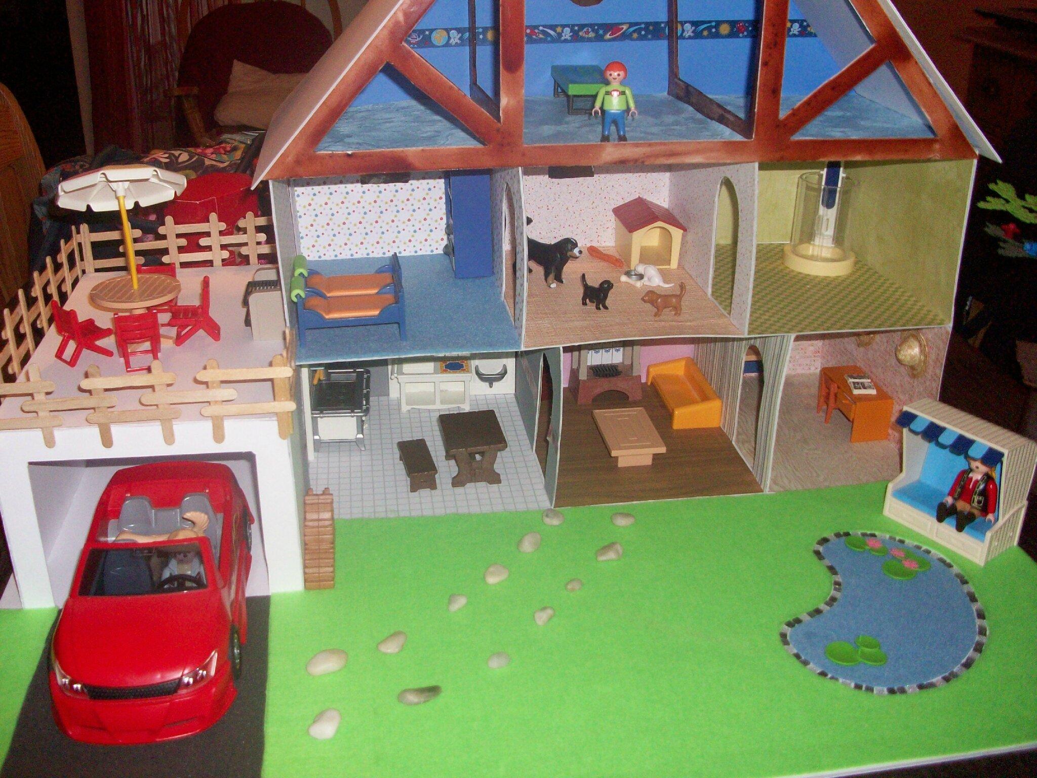 bien aim comment construire une maison playmobil pt72 humatraffin. Black Bedroom Furniture Sets. Home Design Ideas