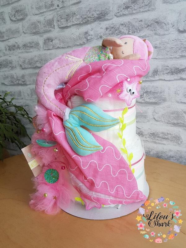 diaper cake mermaid francoise vermorel 3