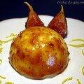 Crème de fromage blanc au citron et aux figues et sa variante aux framboises