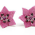 Boucles d'oreille fleurs - flowers earrings