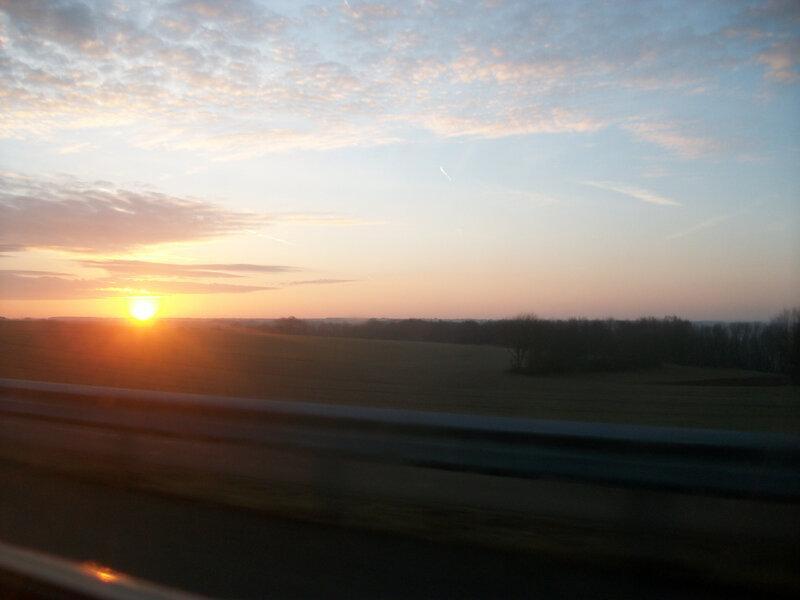 lever de soleil vers Dijon