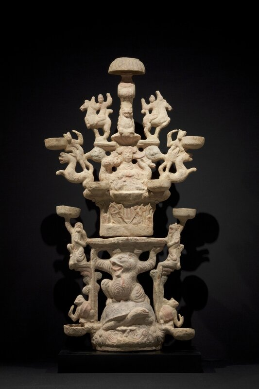 Lamp Representing the Realm of the Queen Mother of the West (Xiwangmu), 1st–2nd century C