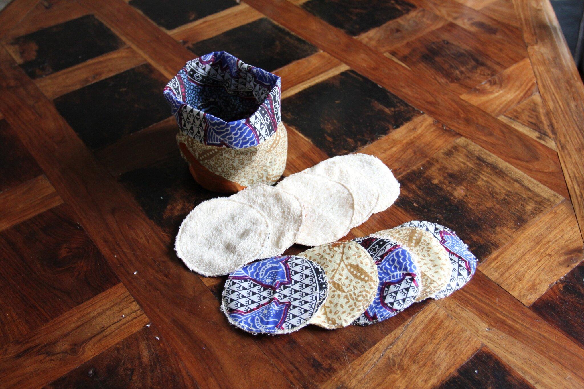 Couture de lingettes écologiques avec sac