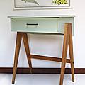 Petit mobilier ... bureau aux pieds compas * eugène