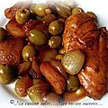 Filets de poulet & olives-abricots