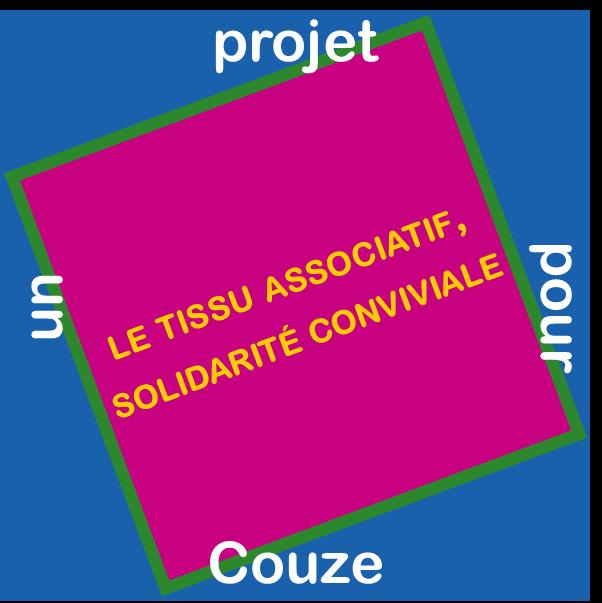 Tissu associatif solidarité conviviale