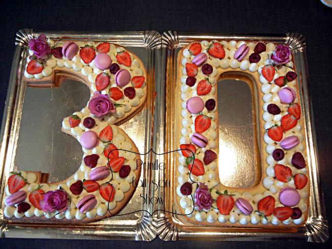 "Number cake ""30"" - rose"