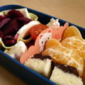 Bento: filet mignon et riz tricolore