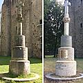 La croix du château de pouzauges entièrement restaurée