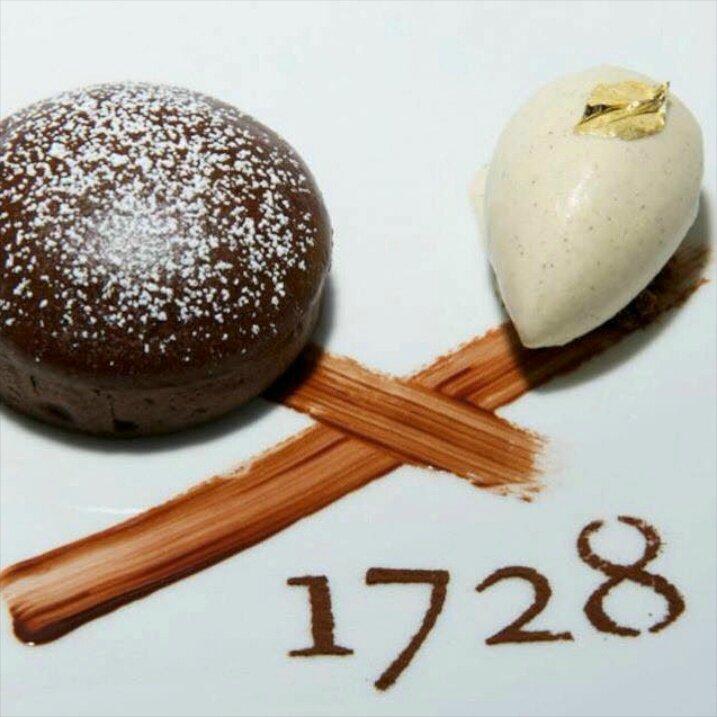 1728 Tarte soufflée banane chocolat, glace vanille ©1728