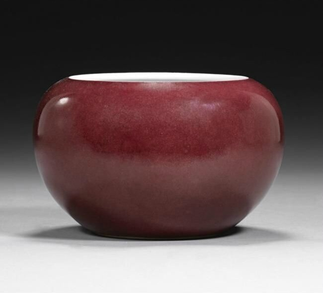 A copper-red alms bowl, Qianlong seal mark and period(1736-1795)