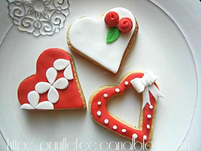 Sugar Cookies Sables Decores Pour La St Valentin Decor De