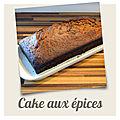 Cake aux épices { vegan }
