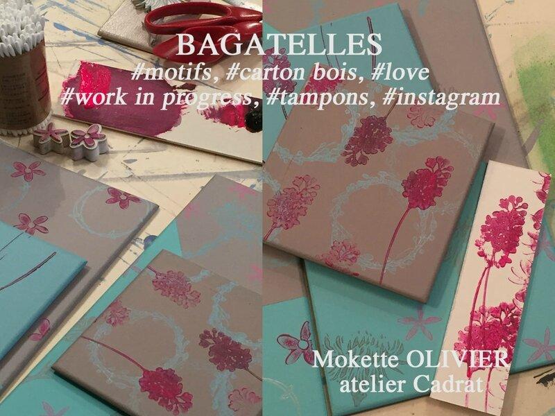blog 16-39 e-cours et stages-enseignement-formation-Patines & tampons-Encadrement-Carton bois-Cartonnage-atelier Cadrat Paris