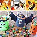 ✄ seaux à bonbons récup d'halloween / diy trick-or-treat buckets ✄