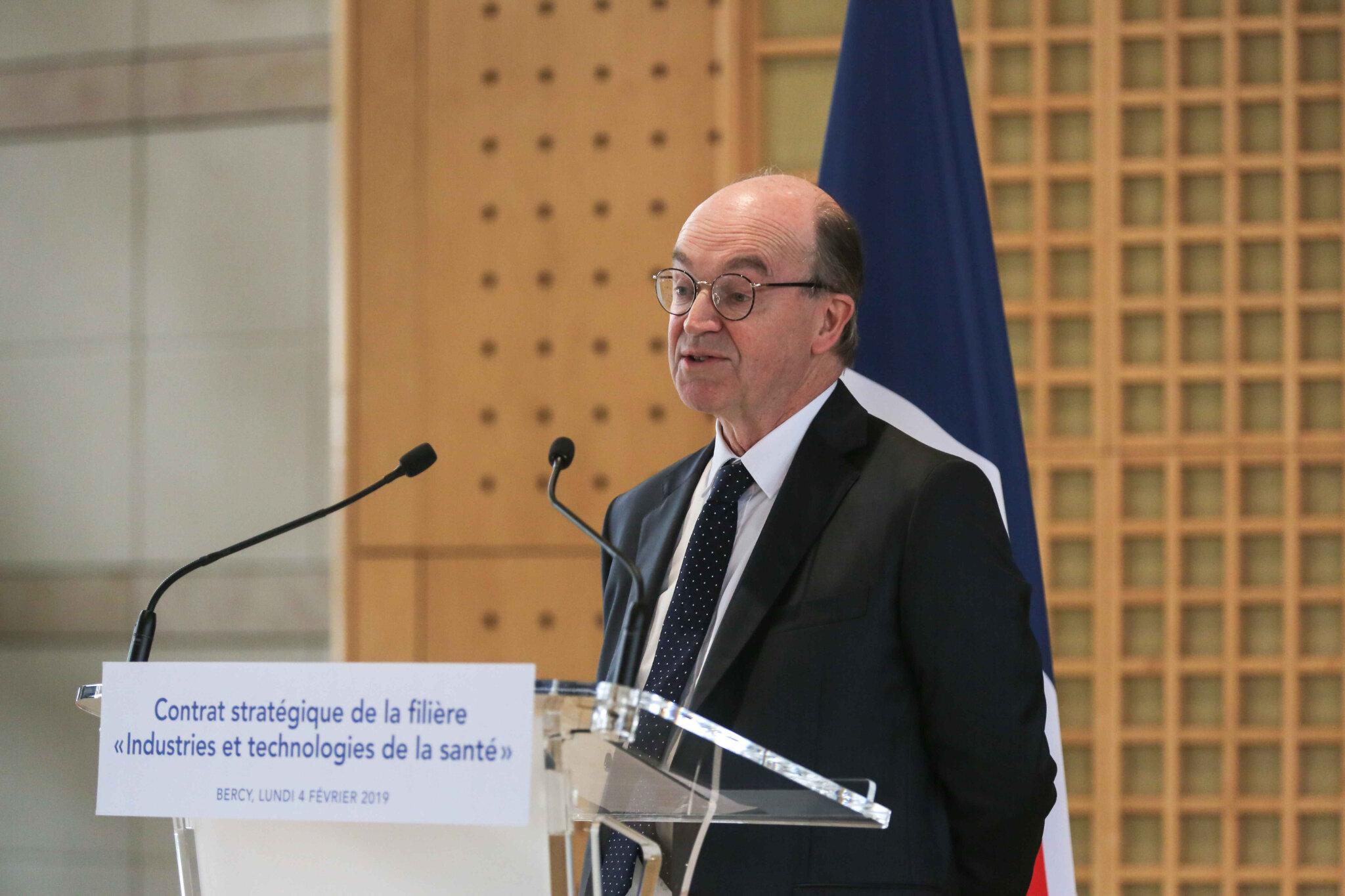 Signature du Contrat stratégique « Industries et Technologies de Santé ». © Michel Stoupak. Lun 04.02.2019, 14h53m06.