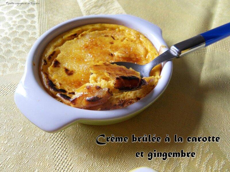 crème brûlée à la carotte et gingembre