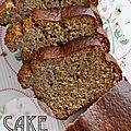 Le cake banane & amande/noisette, moelleux, sans sucre ajouté d'hervé cuisine