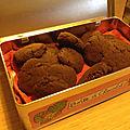 Cookies double chocolat sans gluten sans lait sans oeuf