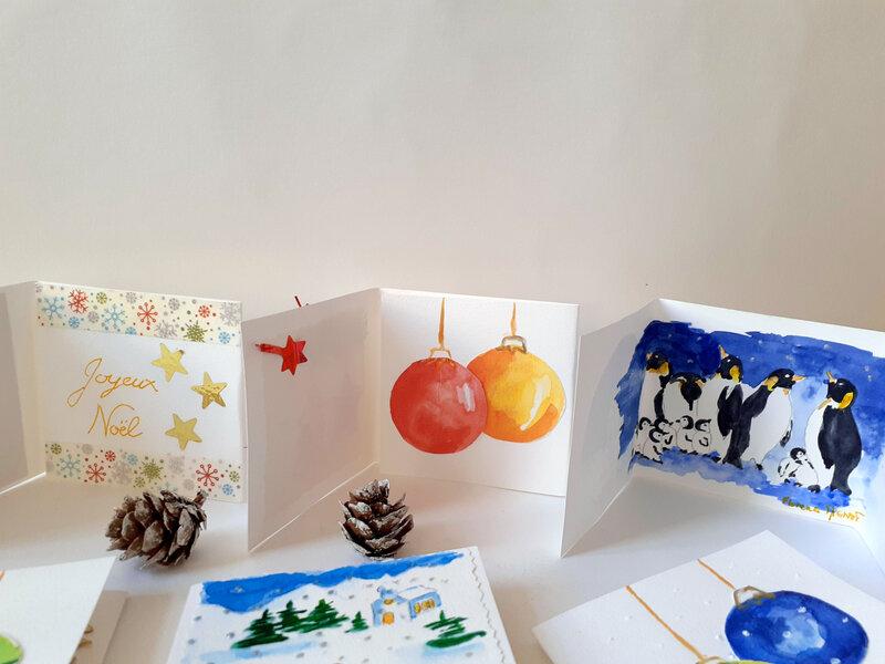 interieur mini cartes hiver, boules