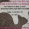 prochain stage d'initiation a la mosaique