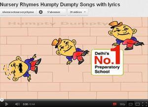 Vidéo de Humpty Dumpty