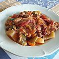Tajine de cabillaud et légumes épicés