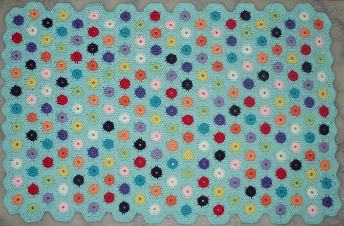 Couverture bébé mini-hexagones