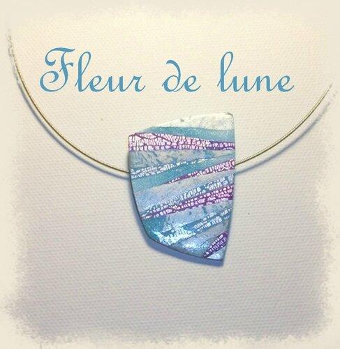 pendentif craquelé bleu