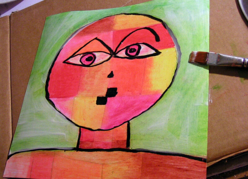 5-Chaud Froid-Portraits inspiration Paul Klee (9)