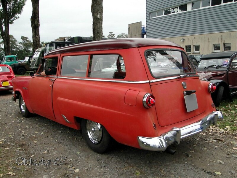 ford mainline 2door ranch wagon 1954 b