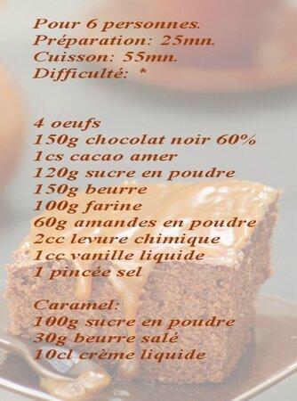 recette moelleux chocolat et caramel